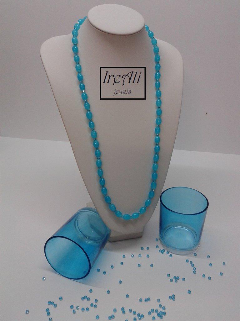 Collana Chicchi Azzurri Collezione Mondine