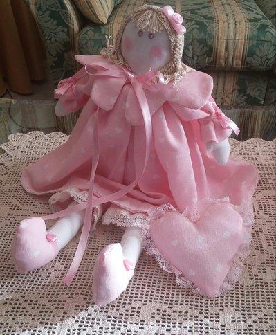 Bambola di stoffa Molly - Fiocco nascita - Idea regalo compleanno