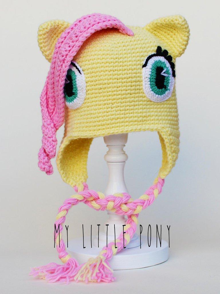 """Berretto amigurumi uncinetto Fluttershy da """"My little pony"""""""