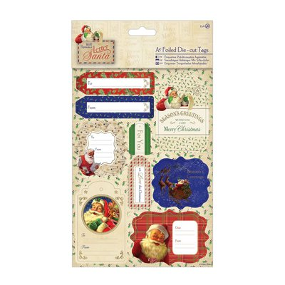 Die-cut Tags & Toppers - Letter to Santa