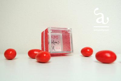 Scatolina portaconfetti in plexiglass personalizzata per Laurea