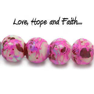 LOTTO 20 perle in acrilico crackle multicolore (6 mm) (cod.00011)