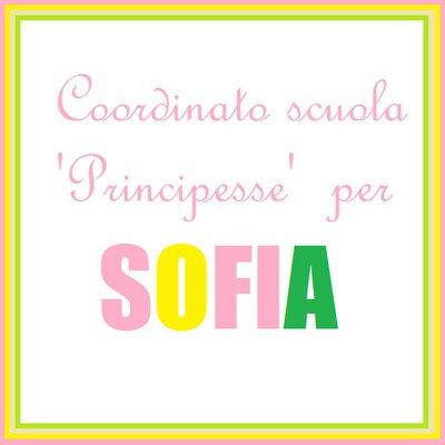 Coordinato scuola 'Principesse' per Sofia
