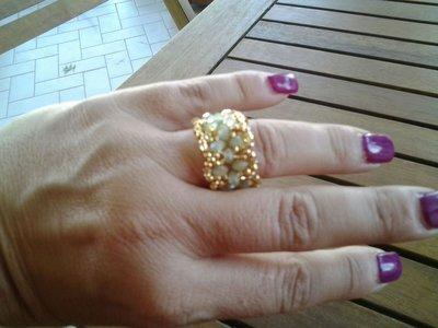 anello turchese e color oro