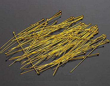 250 pz chiodini con pallina in ottone oro