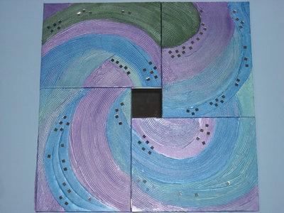 Originalissimo quadro materico moderno : spirale di colori  PEZZO UNICO spedizione gratuita.