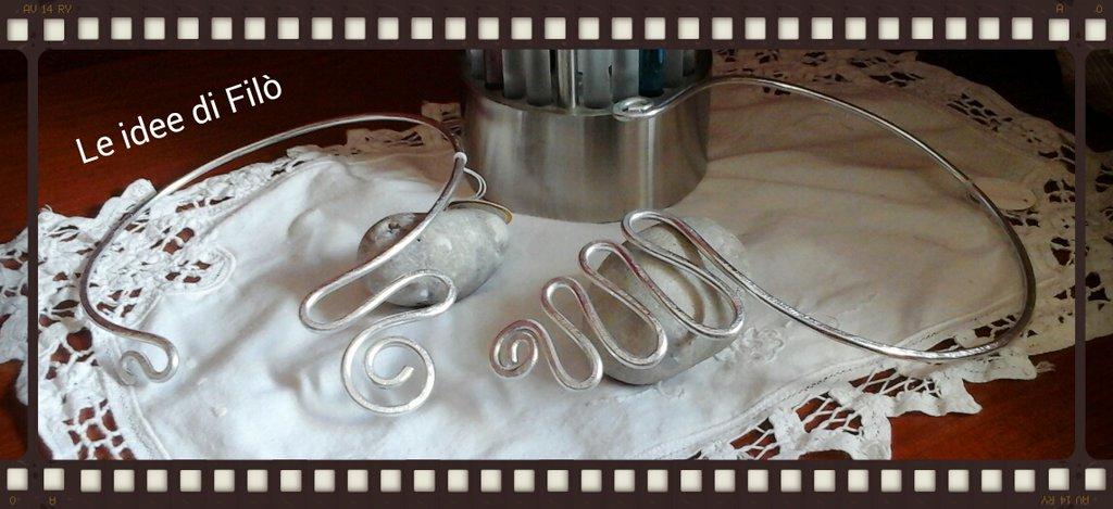 girocollo in alluminio spirale