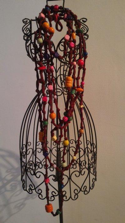 Collana  multicolor fettuccia