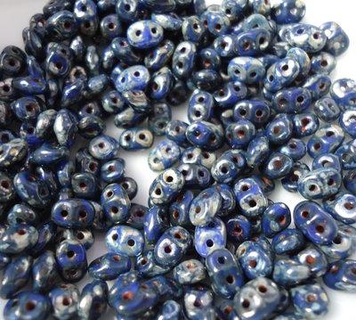 superduo perline OPAQUE BLUE PICASSO  - 10gr