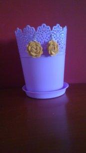 Orecchini in feltro fiore tridimensionali