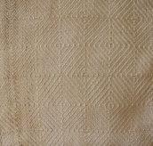 """Canapa naturale,tessuto trama """"goose-eye"""" color panna con le righe"""