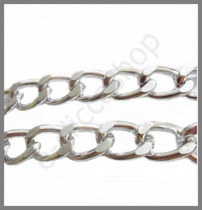 Catena in alluminio tono argento 1mt