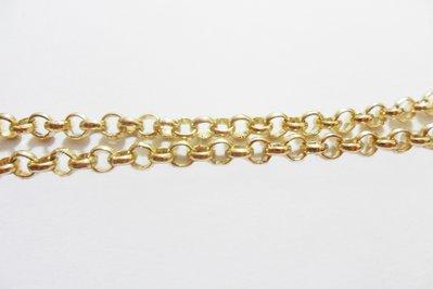 Catena ad anellini color oro in alluminio 1 mt
