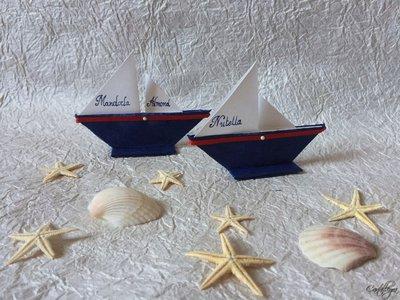 Barchette origami segnaposto/segnagusto
