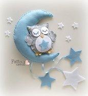 fiocco nascita gufetto con stelle per il tuo evento speciale