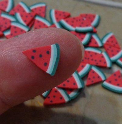 50 GRANDI Fettine di Polymer clay Canes - FETTA ANGURIA