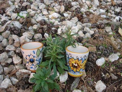 Bicchierini in ceramica