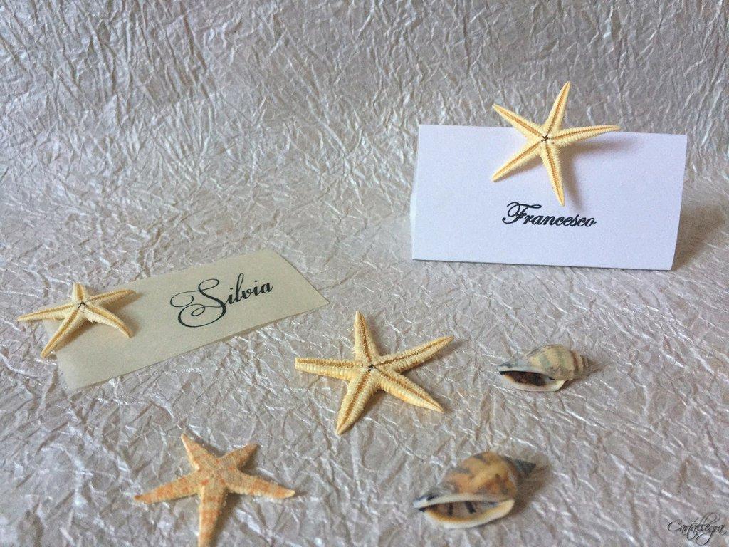 Favoloso segnaposto matrimonio tema mare - Feste - Matrimonio - di cartall  FH48