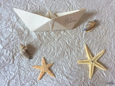 Matrimonio Tema Origami : Segnaposto matrimonio tema mare feste matrimonio di cartall