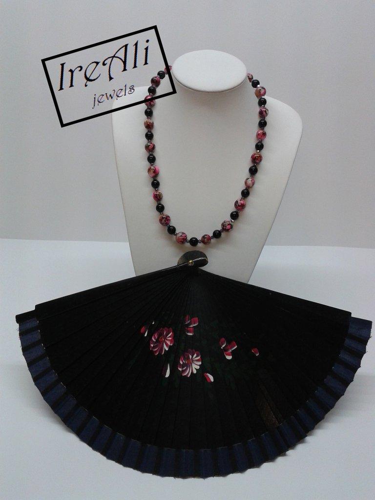 Collana Nero&Fuxia Collezione Carrara