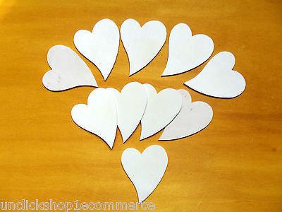 Lotto 10 cuori legno fai da te',decoupage da decorare