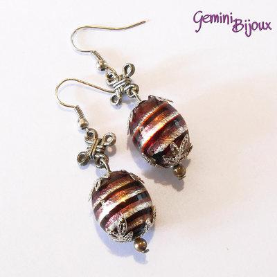 Orecchini con perle Ametista e argento