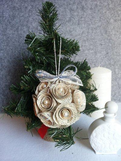 PaLLINA Shabby con roselline di carta