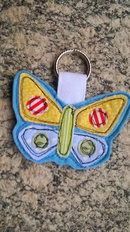 Portachiavi in tesuto e pannolenci a Farfalla