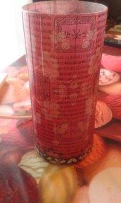 Lampada in vetro, con decorazione floreale orientale