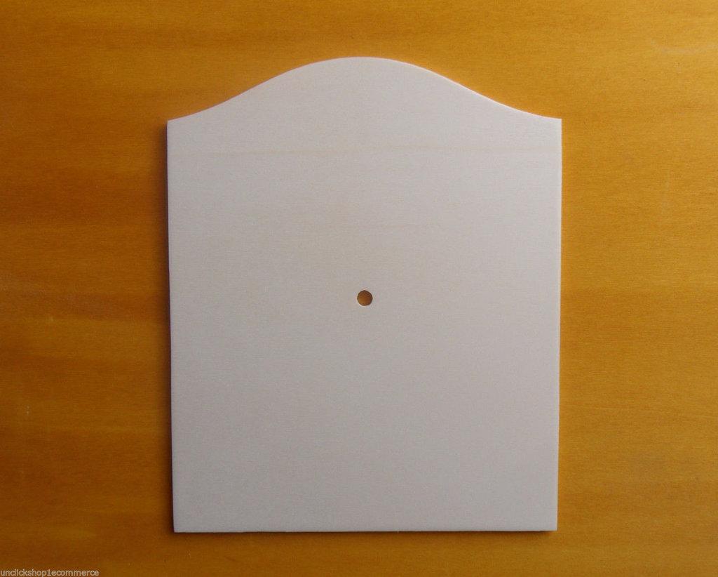 5 Base Orologio in legno di pioppo a forma classica per il fai da te , decoupage