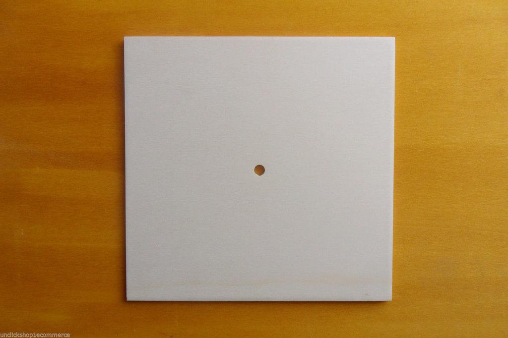 5 Base Orologio in legno di pioppo a forma quadrata per il fai da te , decoupage