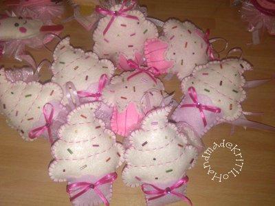 bomboniera dolcetto in pannolenci Handmade KriTiLo