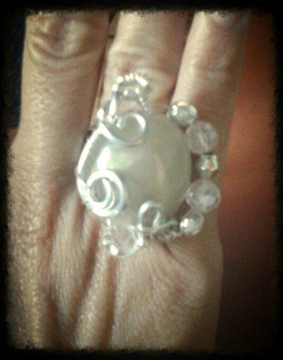 anello wire resina e vetro