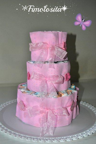 Torta di pannolini per nascite, battesimi, compleanni :) (SOLO SU RICHIESTA)