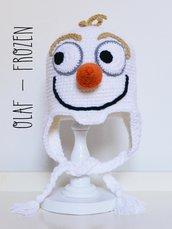 """Berretto amigurumi uncinetto Olaf da """"Frozen"""""""