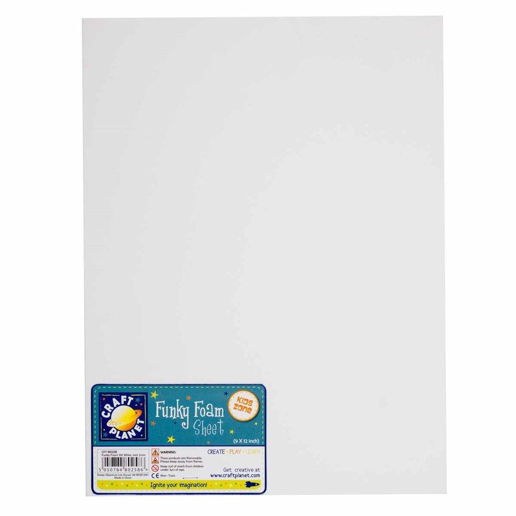 Foglio gomma crepla 23x30 cm - Bianco