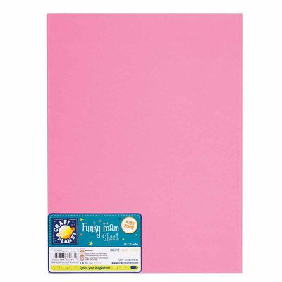 Foglio gomma crepla 23x30 cm - Pink