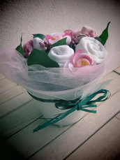 Bouquet idea regalo nascita bimba