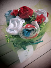 bouquet idea regalo nascita bimbo