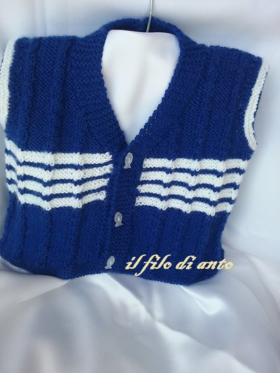 Gilet a righe  in lana