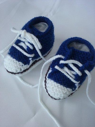 Scarpine blu in lana