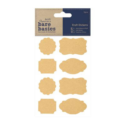 Kraft Stickers - Parenthesis