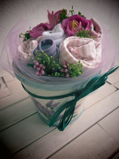 bouquet idea regalo nascita bimba