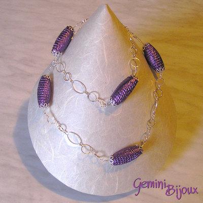 Catena ovali viola