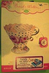 Fustella Big Shot fustellatrice tazza caffè the cup tea tazzina feltro 658351