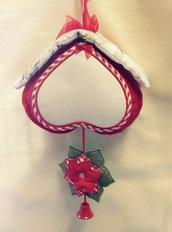 Fuori porta natalizio con tela aida