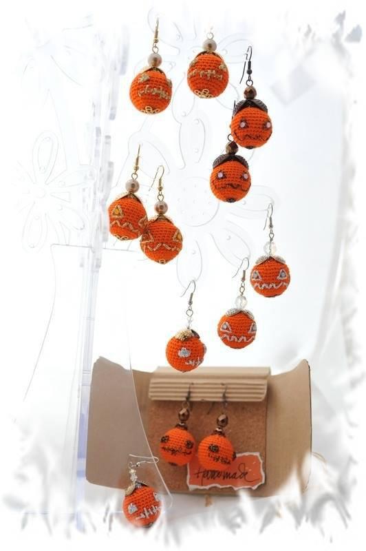 Orecchini zucca di Halloween