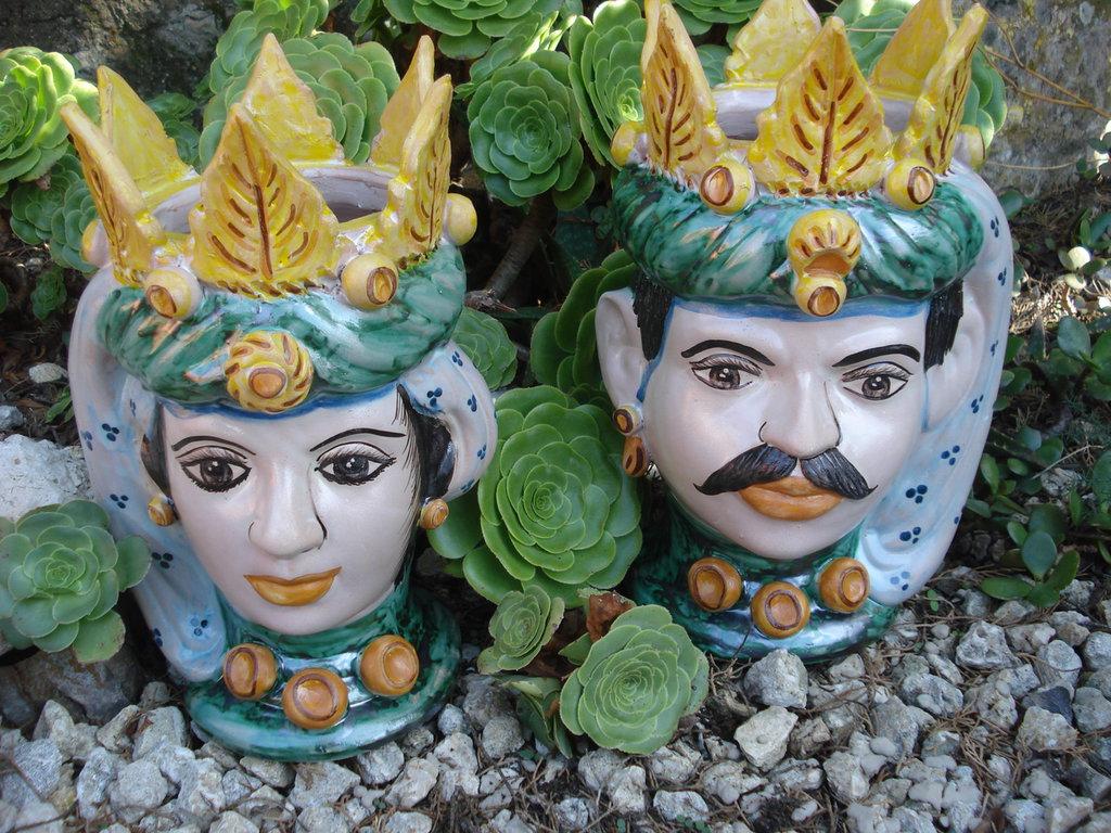 Teste di moro in ceramica
