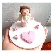 Cake topper Battesimo angelo bimba