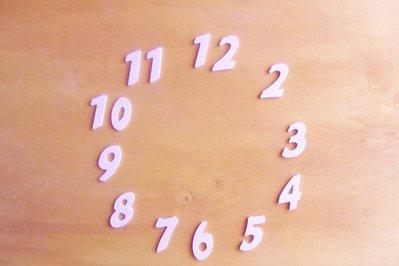 Numeri in legno per orologi e il fai da te 12PZ